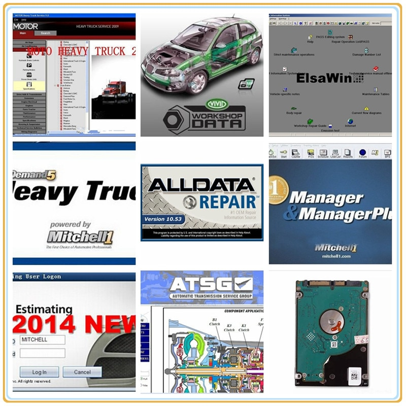 Alldata 50 software auto reparatur 2020 Neue Version mit//chell OD5 vivid werkstatt auto daten atsg Heißer HDD Fest fahrer Festplatten liefern