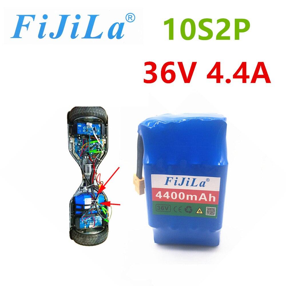 2020 new type 10s2p 36V Li ion rechargeable battery 4400 mah 4.4ah balance car battery pack