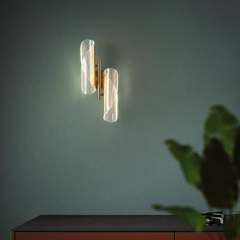 FANPINFANDO-مصباح حائط Led ذهبي حديث ، إضاءة لغرفة المعيشة ، غرفة النوم ، السرير ، المدخل ، المدخل ، الشمعدان