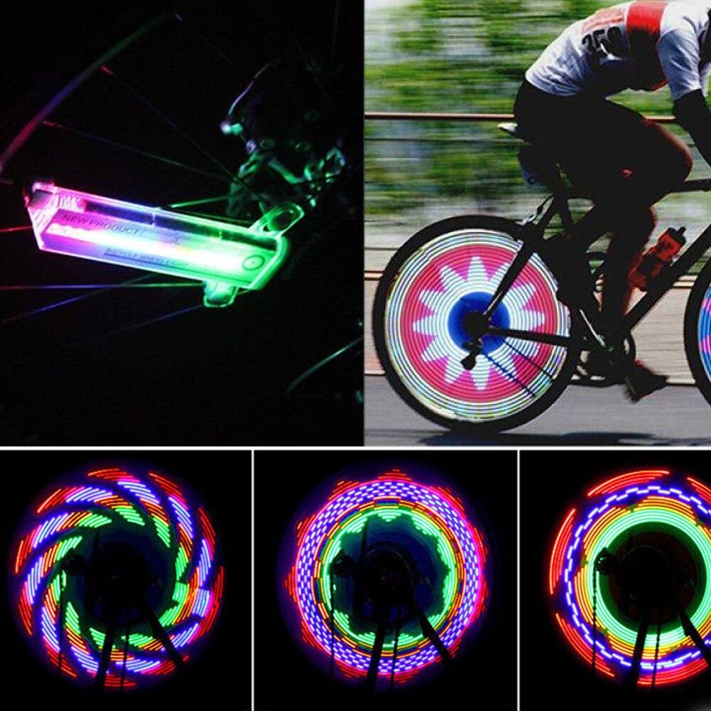 Bicicleta rueda de radios luz colorida bicicleta motocicleta luces bicicleta impermeable nueva 32 LED al aire libre lámpara ciclismo Accesorios