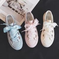 2021 new canvas shoes versatile laces light color solid color cute trend casual flat bottom low top womens vulcanized shoes