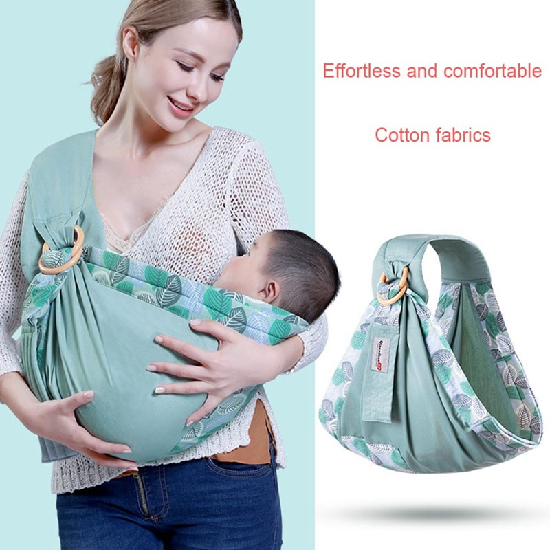 Portabebés portabebés multifunción con tirantes cruzados para bebé recién nacido, correa de hombro de algodón transpirable para verano