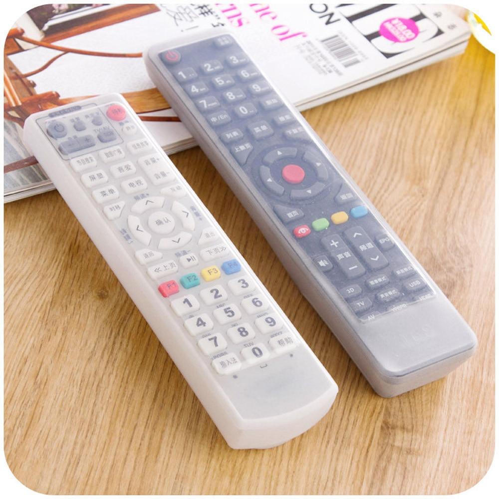 Housse de protection imperméable et antipoussière pour télécommande de TV, Film de protection en Silicone Transparent, sacs de protection pour télécommande