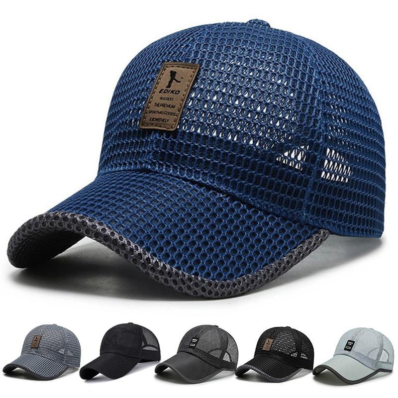 Мужская сетчатая стандартная летняя спортивная шапка унисекс, уличные повседневные рыболовные шапки