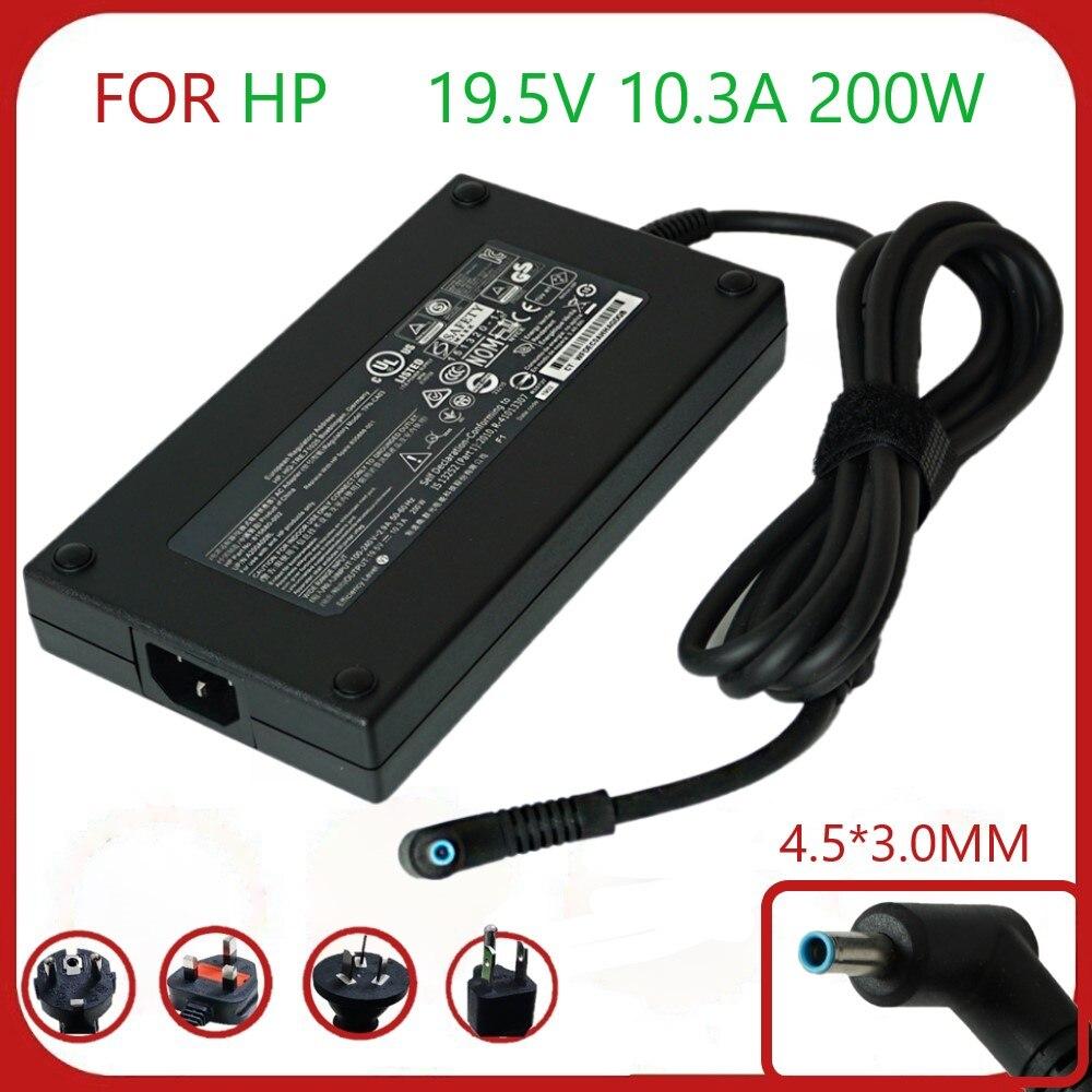 رقيقة 19.5V 10.3A 200W 4.5*3.0 مللي متر ac محول كهرباء للحاسوب المحمول شاحن ل hp ZBook 17 G3 TPN-CA03 A200A008L 815680-002 835888-001