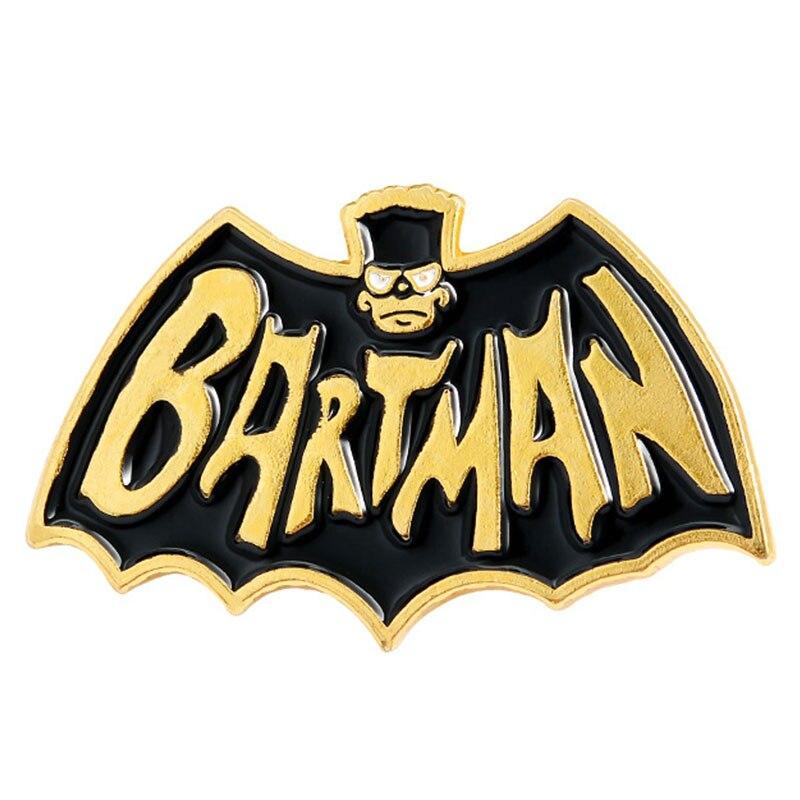 Broche de esmalte de murciélago creativo, broche de aleación de Bartman, Pin de pintura para Collar, insignia, decoración de bolso de moda