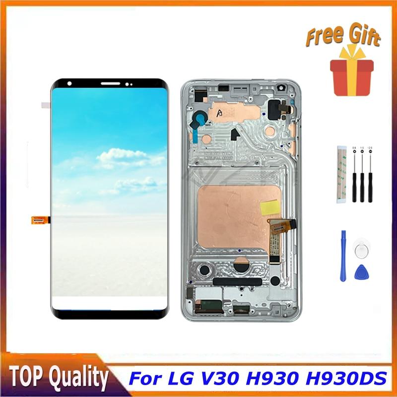 شاشة بانتيلا مقاس 6.0 بوصة لمحول رقمي إل جي V30 شاشة لمس H930 H930DS H931 H932 H933 VS996 US998 LS998U مع جزء تصليح V300K
