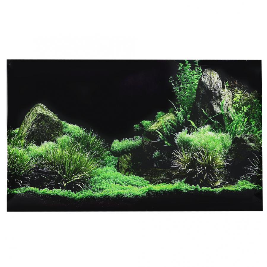 Aquarium Fish Tank Seafloor Water Grass Background Decoration Painting PVC Sticker Aquarium Plants Seeds