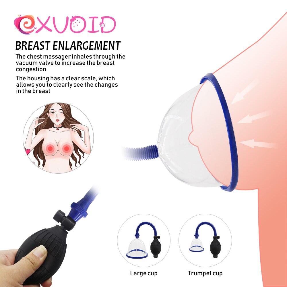 EXVOID Breast Enlarger Breast Enhancement Vacuum Cup Sex Shop Nipple Massager Sex Toys For Woman Breast Pump Nipple Sucker