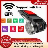 1080P Wi-Fi android Dash Cam автомобиля Камера Регистраторы Автомобильные видеорегистраторы Ночное видение петли Запись ADAS G-sensor 170 градусов Dash Cam
