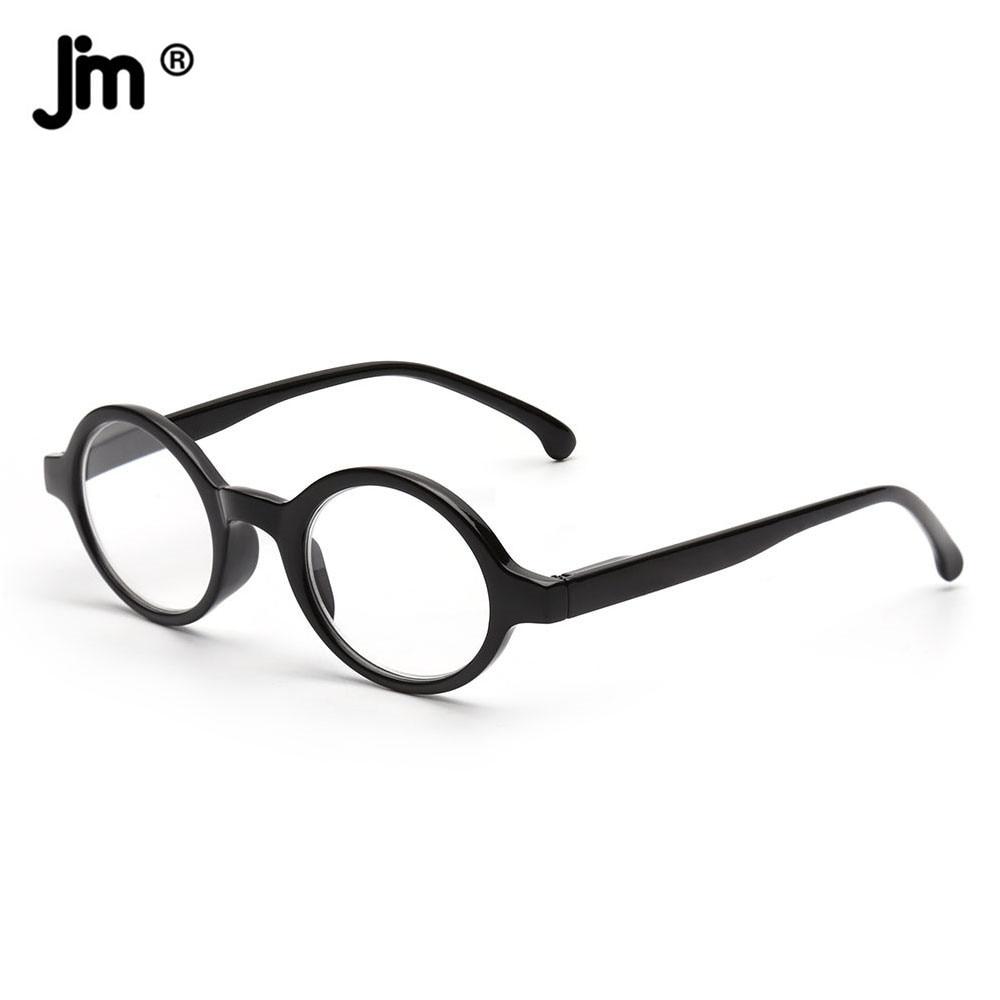 JM Spring Hinge Round Reading Glasses Women Men Diopter Magnifier Presbyopic Glasses Black +0.5 +6 sys0076 3 0 diopter reading presbyopic glasses black