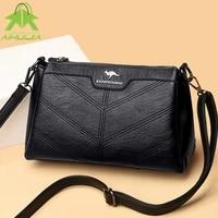 simple ladies handbag fashion embroidery thread ladies messenger bag 2021 new high quality pu leather travel casual handbags