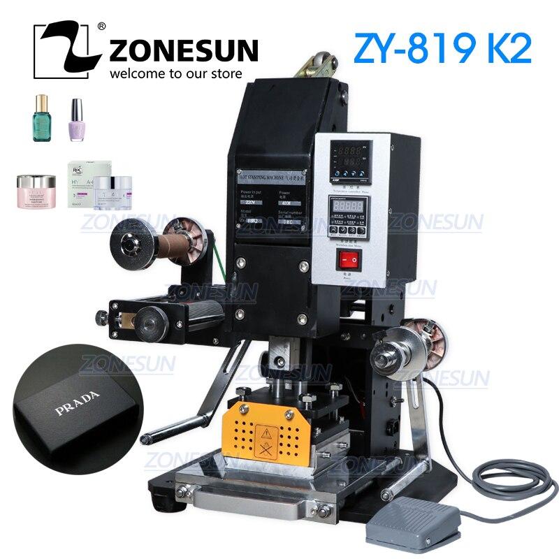 ZONESUN 819k2 116*120 мм пневматическая автоматическая фотокожа, Подарочная коробка, визитница, логотип, термопресс