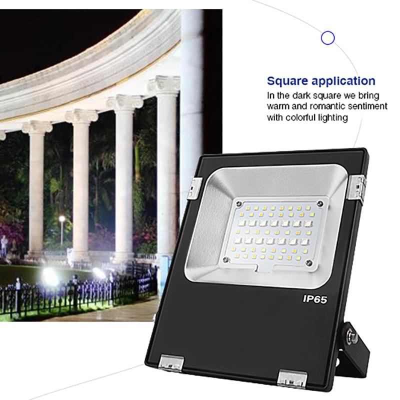 FUTT04 AC100-240V Milight 20W RGB+CCT LED Floodlight Waterproof IP65 Led Lamp For Outdoor Wall Lamp Refletor Led Bulb enlarge