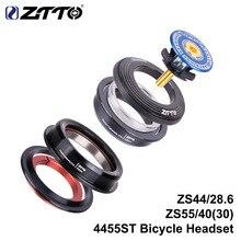 ZTTO MTB Headset ZS44 ZS55 Verjüngt Gerade Universal 1,5 inch 28,6mm Gabel Null Stapel Integrierte Mit Tassen MTB road bike 4455ST