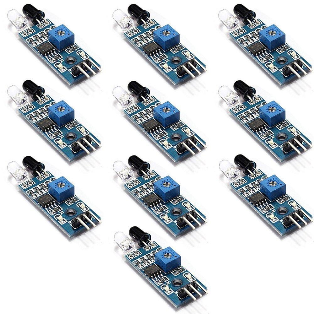10pcs Ir Infrared Obstacle Avoidance Sensor Module For Arduino Smart Car Robot
