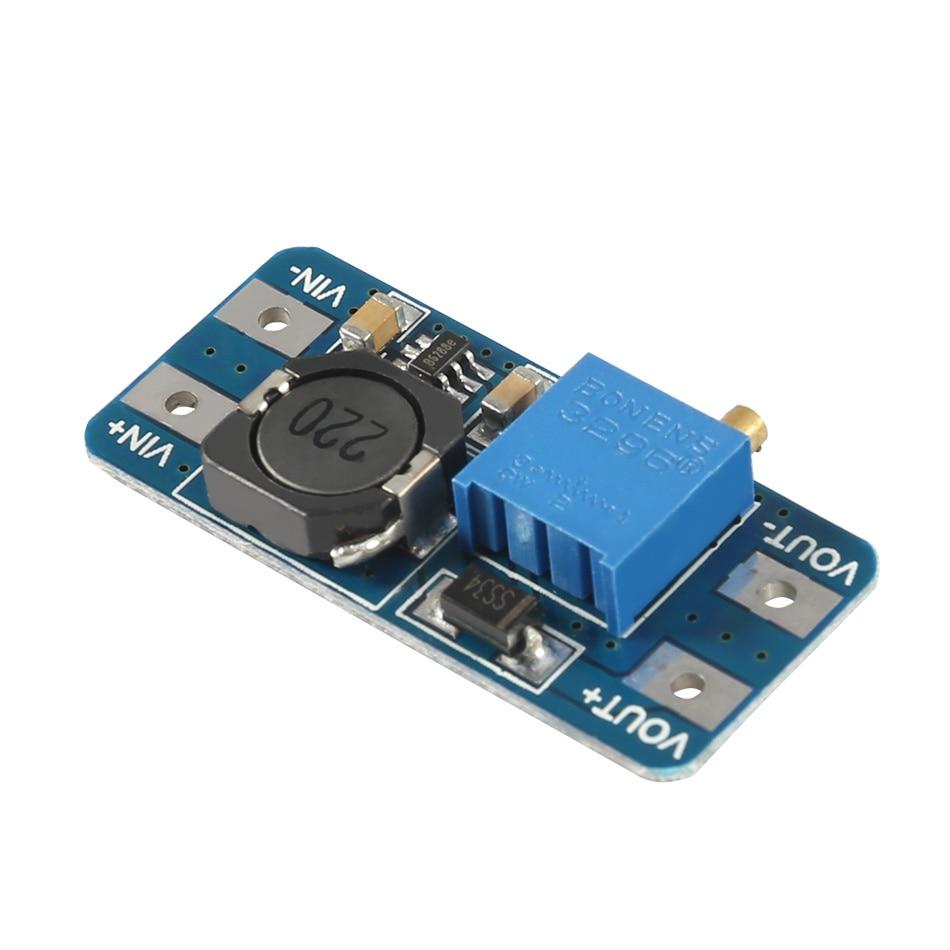 3pcs/lot MT3608 DC-DC Adjustable Boost Module 2A Boost Plate Step Up Module With MICRO USB 2V-24V To 5V 9V 12V 28V