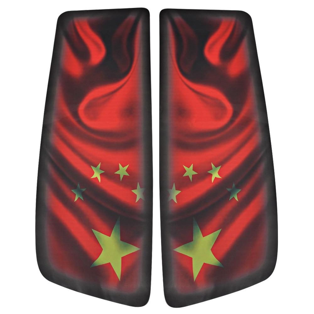 Motorbike Stickers Saddlebag Cover Decals 3D Color Inkjet China Flag For 94-13 Harley Touring Electra Street Glide Road King