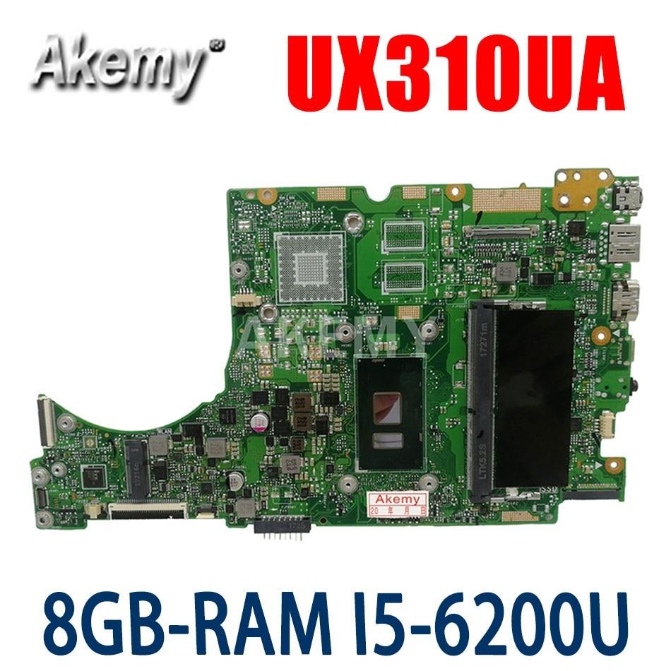 UX310UA اللوحة لابتوب ASUS UX310UQK UX310UQ UX410UQ UX410UQK UX310UA اللوحة الأصلية 8GB-RAM I5-6200U