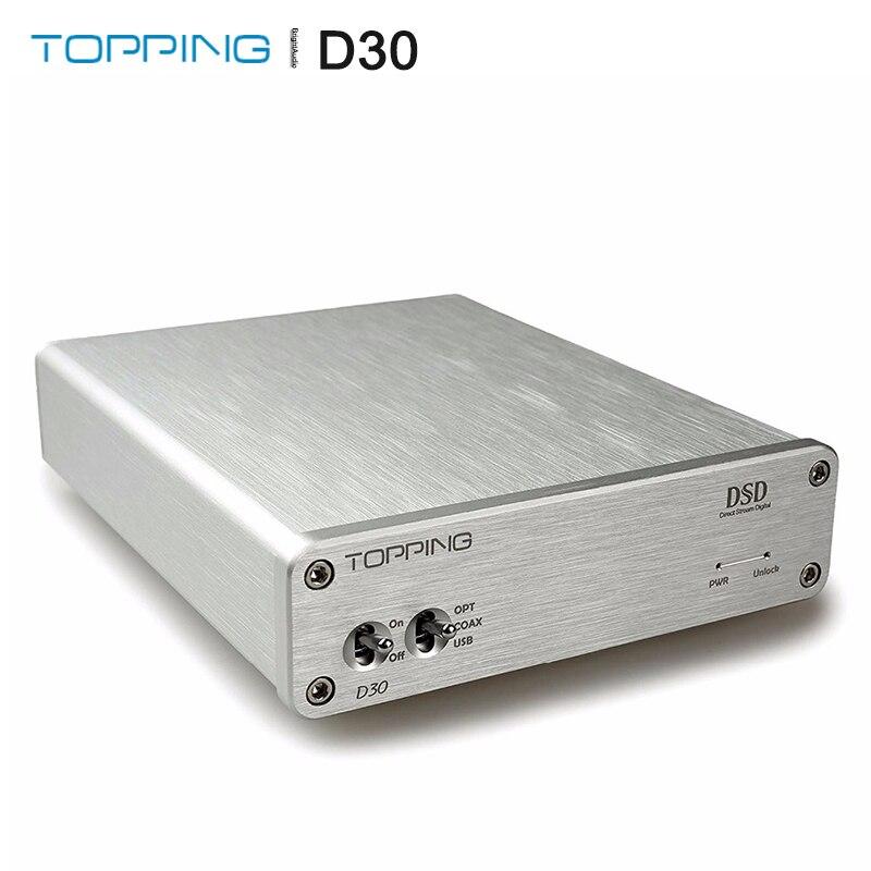 TOPPING D30 decodificador de Audio USB Coaxial fibra óptica 24bit/192kHz S/PDIF, DAC USB apoyo DSD64 y DSD128