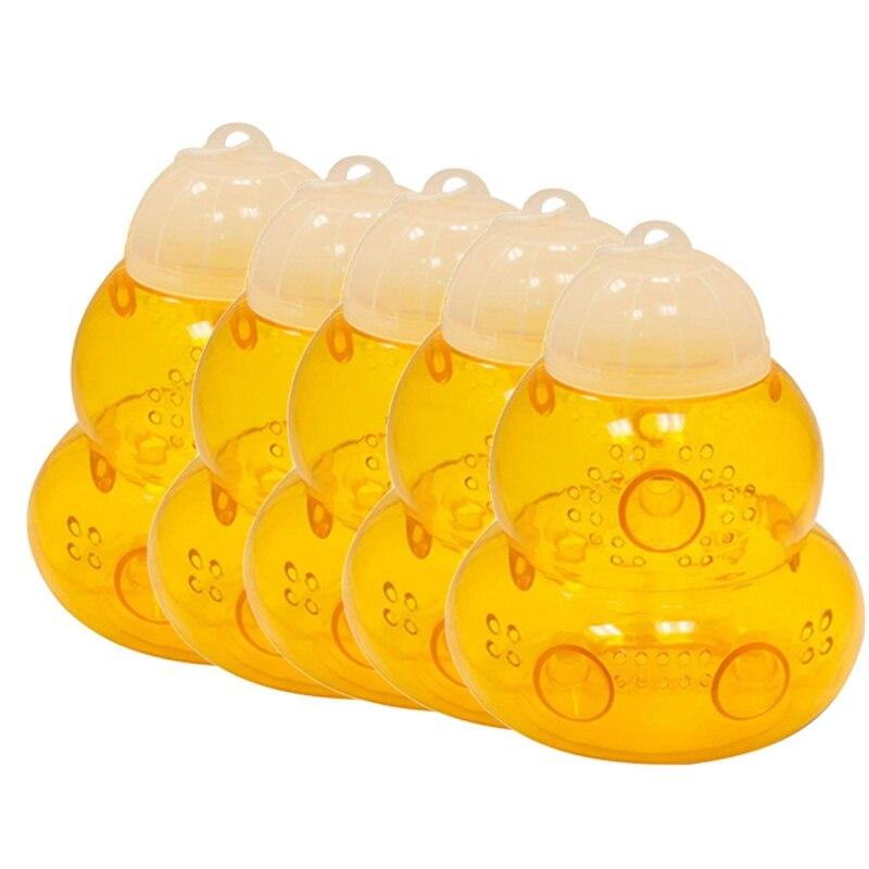 قابلة لإعادة الاستخدام النحل الماسك في الهواء الطلق معلقة فخ فعالة ، قابلة لإعادة الاستخدام ، آمنة الطبيعية خلية النحل فخ غير سامة وعاء عسل ا...