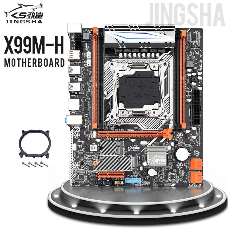 Jingsha X99M-H M-ATX Desktop Motherboard LGA 2011-3 E5 CPU DDR4 RAM Supports E5 2678V3 2620 V3 And SSD M.2 SATA 3.0 PCIE 16X