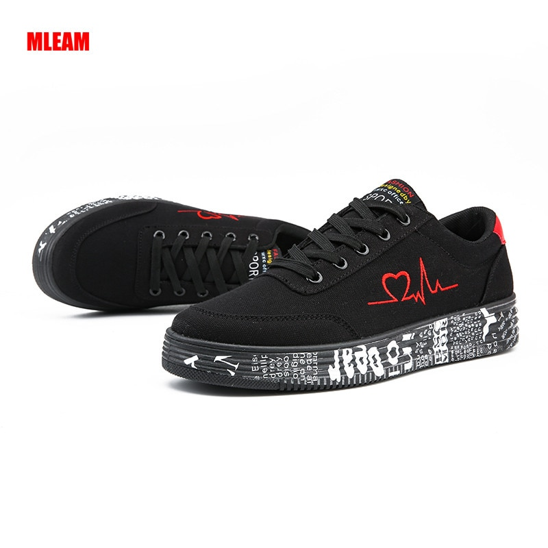 2020 New Casual Shoes for Men Breathable Lace-up Sneaker Graffiti Flats Couples Shoes Outdoor Male F