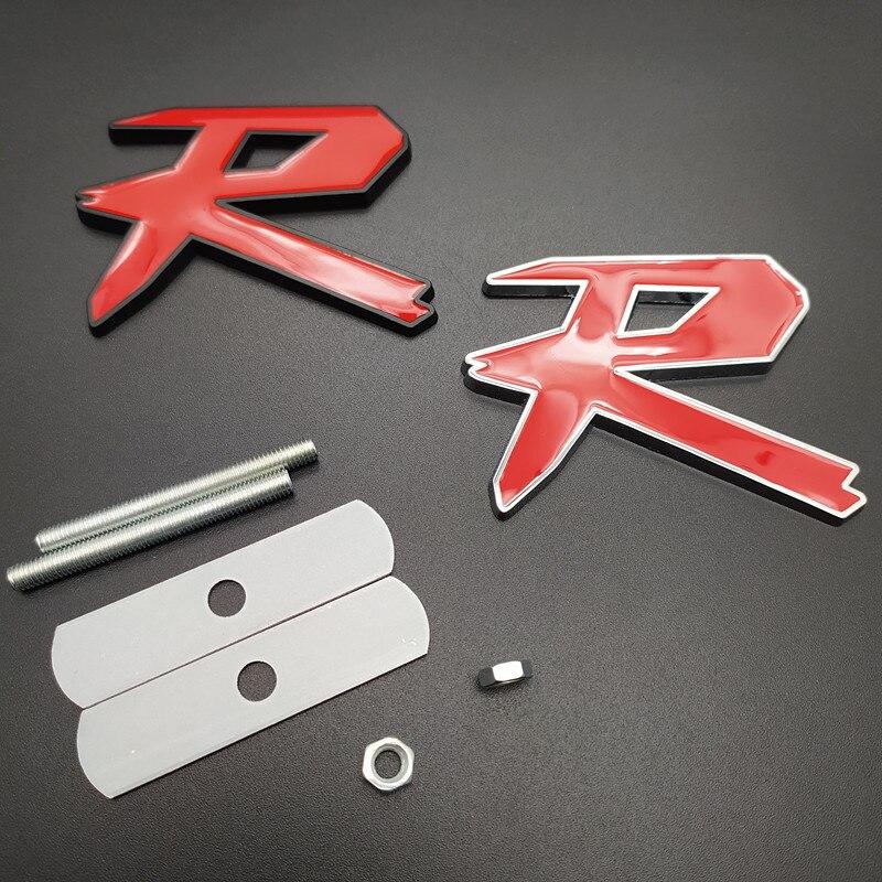 Estilo de coche, aleación de Metal 3D, Tipo R, Typer pegatina, rejilla de parrilla para Honda City CR-V XR-V Accord FIT Jazz Stream Crider Greiz