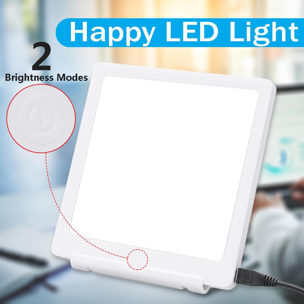 Lámpara de terapia 5V 2 modos estacional 10000Lux luces de noche luz Natural USB Luz de terapia para tristeza