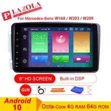 Android 10 lecteur multimédia autoradio Navigation GPS pour mercedes-benz A-W168 W203 W209 C209 W463 Viano W639 DSP WIFI CarPlay