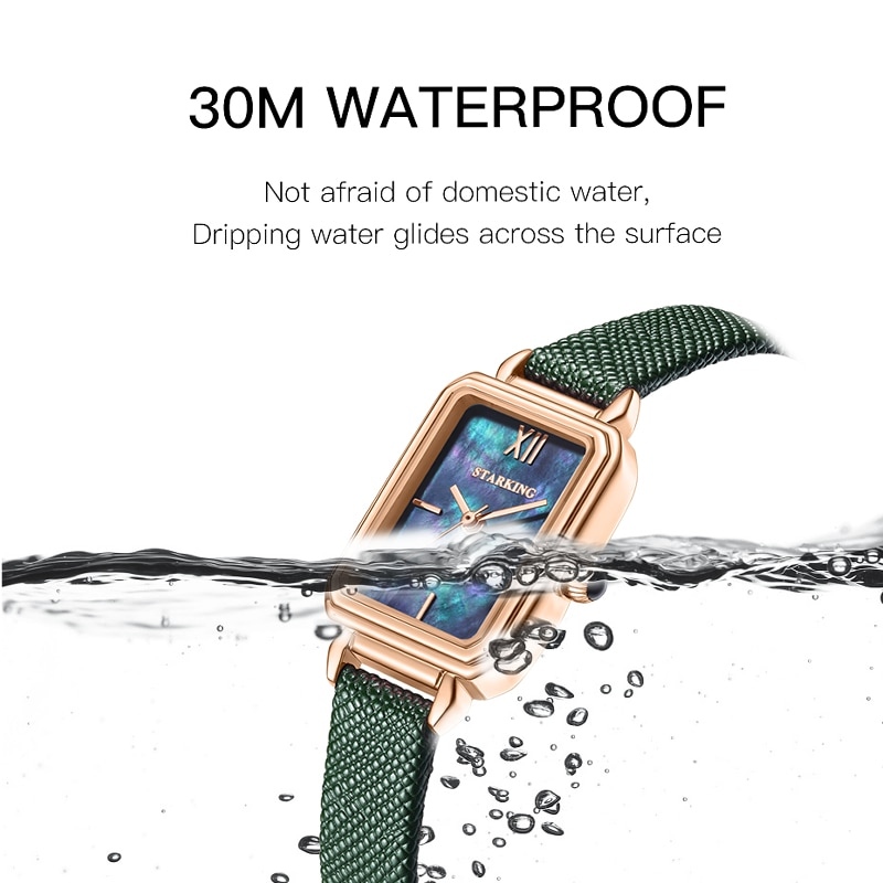 Watch female explosion models simple temperament small square watch fashion waterproof ins small green watch female watch enlarge