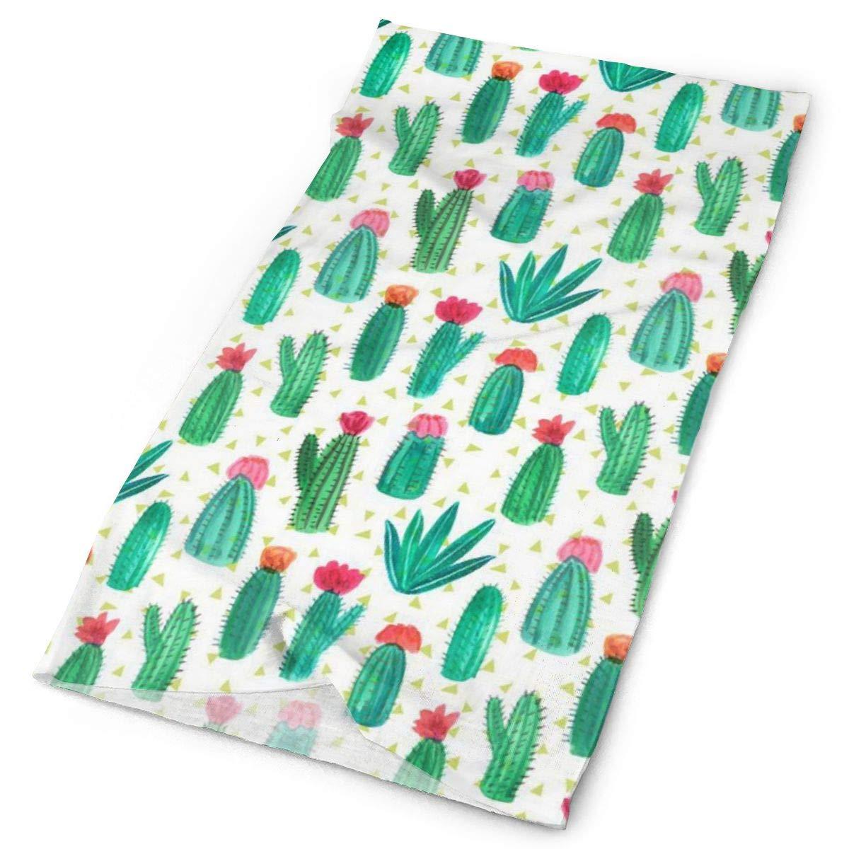 SHINYWEET Desert Cactus Flower Outdoors & Daily Headwear - 16 Ways to Wear Headband/Neck Gaiter/Bandana/Helmet