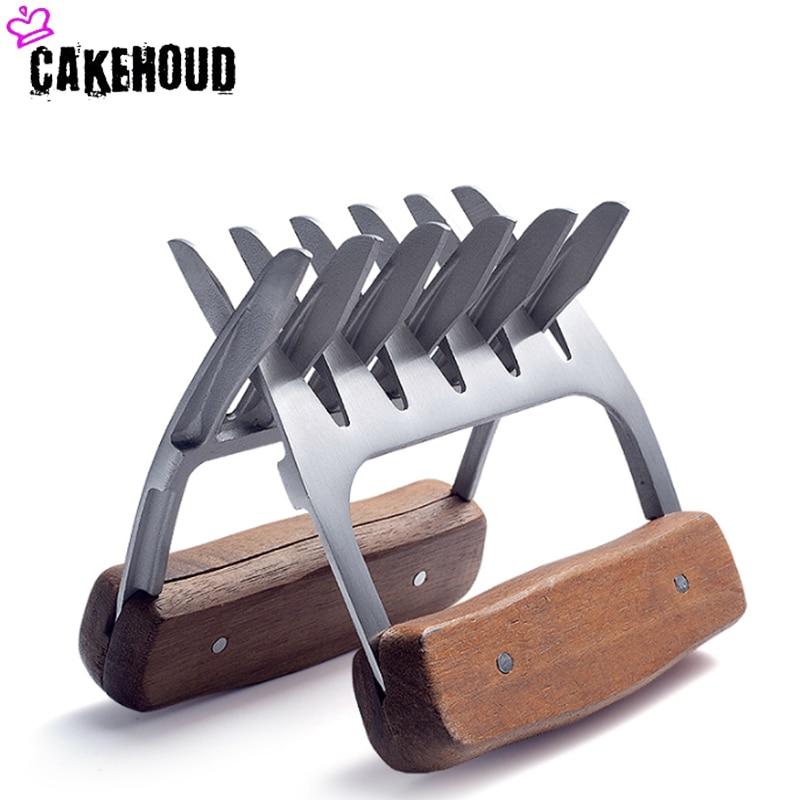 CAKEHOUD Новый Медвежонок коготь барбекю вилка зажим нержавеющая сталь полезное мясо процессор инструмент для барбекю многофункциональное устройство для удаления мяса