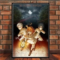 poster anime the promised neverland canvas painting wall art nature home decoration for living room and bedroom frameless