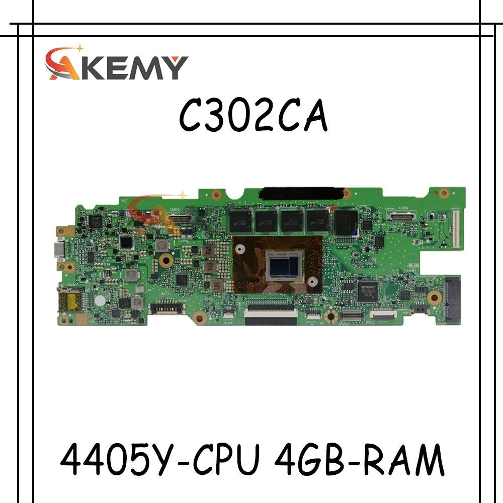 Akemy ل ASUS Chromebook Flip C302C C302CA Laotop اللوحة الرئيسية C302CA اللوحة مع 4405Y-CPU 4GB-RAM 32G-SSD