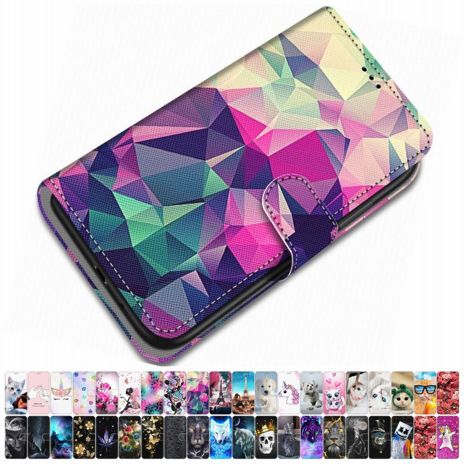 For Case Huawei Honor 6A 6C Pro Honor 7X 7S PU Leather Phone Cover Lovely Girl Boy Bag Box Animal Fl