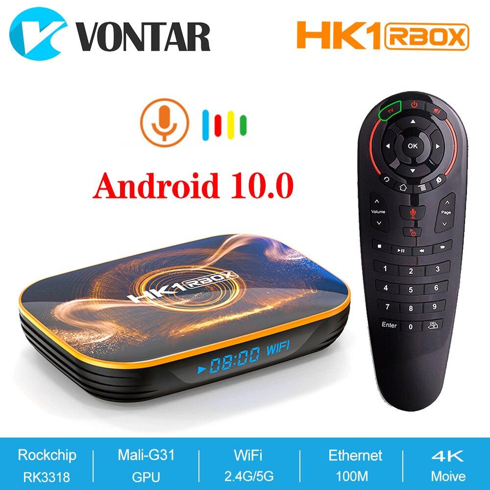 2020 Android 10 Samrt TV Box HK1 Rbox 4GB RAM 64GB Rockchip RK3318 Android 10,0 HK1 Max Netflix youtube 4GB RAM 32GB Set Top Box