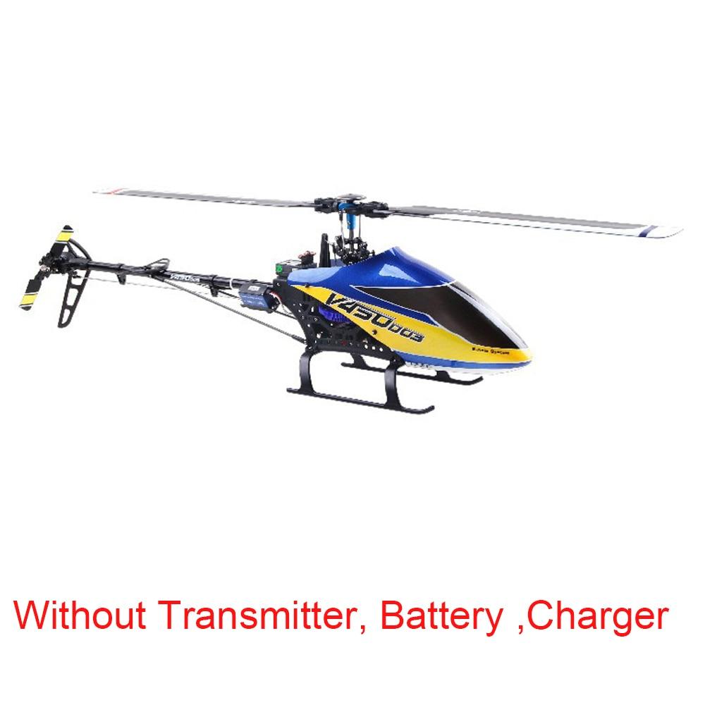 طائرة هليكوبتر والكيرا V450D03 6CH ثلاثية الأبعاد ، جهاز تحكم عن بعد أصلي ، 6 محاور جيروسكوبية ، بدون جهاز إرسال ، بطارية وشاحن