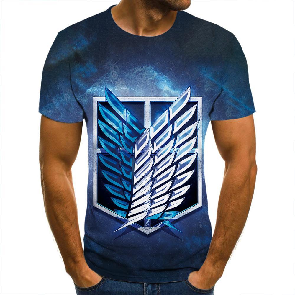 Camiseta con estampado 3d de titan, ropa de calle informal para hombre,...