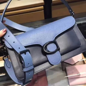 Ladies bag luxury leather shoulder bag square underarm bag retro handbag universal saddle bag soft leather high quality