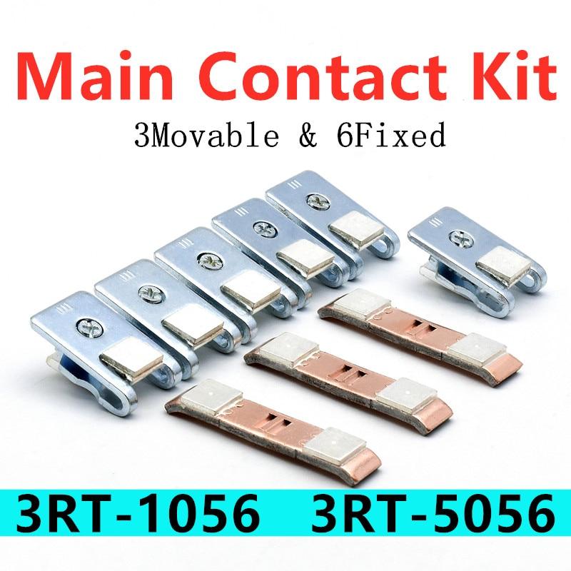 3RT1956-6A طقم الاتصال الرئيسي ل 3RT1056 3RT505 6 موصل مغناطيسي اكسسوارات ثابتة ومتحركة طقم تصليح نقطة الاتصال