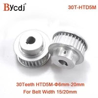 30 teeth htd 5m synchronous pulley bore 681012141516181920mm for width 1520mm htd5m timing belt 30teeth 30t