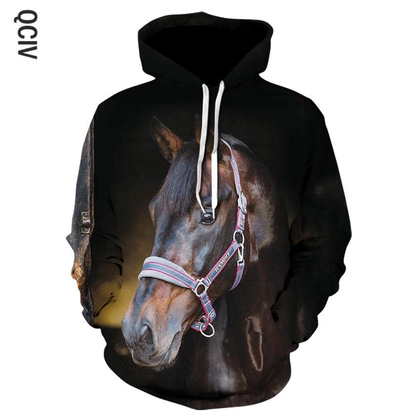 3D Animal Horse Men/women Hoodies Casual Summer Hooded Sweatshirts Long Sleeve Polyester Men Hoodies Custom Tracksuit 5XL