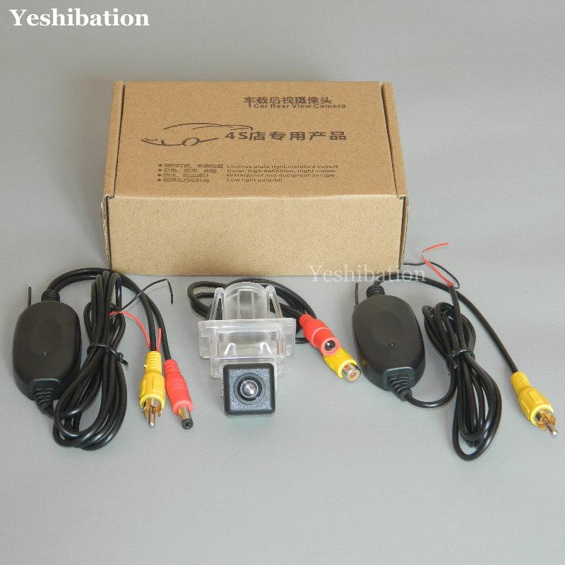 Yeshibation cámara de respaldo CCD inalámbrica para Mercedes Benz SLK clase MB R172 2012 ~ 2015 luz de matrícula de la Cámara de aparcamiento