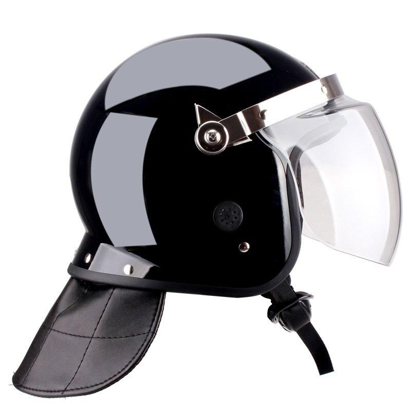 Especial à prova de motim capacete de segurança guarda no dever de proteção contra incêndio pescoço de couro confortável arejada quente capacete de segurança