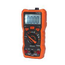 Multímetro Digital T21D DC/AC voltímetro de mano diodo NCV Tester 6000 recuentos 94PC