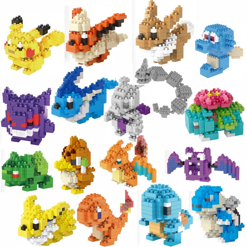 Pokemon Legoinglys bloques de construcción juguetes educativos Pikachu modelo ornamento niños juguetes regalo