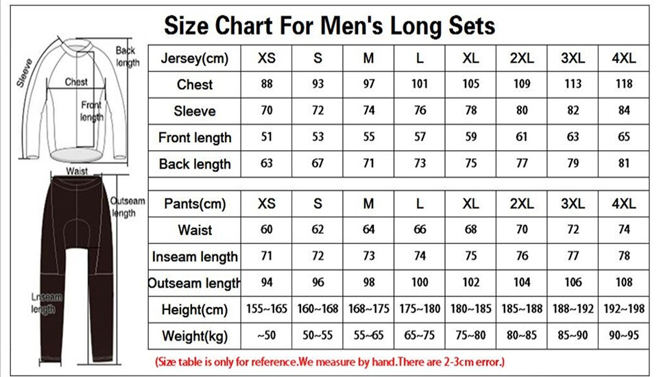 Pro Team 2021 Cycle Clothing Sets Men Long Sleeve MTB Bike Clothing Maillot Ropa Ciclismo Hombre Bicycle Wear GEL Bib Pants