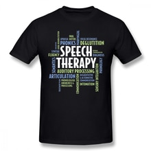 Camiseta oversized streetwear t camisa 100 algodão tshirt do terapeuta da fala t camisa do terapeuta do discurso presentes para o mês slp