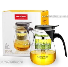 TP-757 taza de té de arte Kamjove * taza y tetera de vidrio de 700 ml, Gongfu, tetera preparador, prensa, Puer, corbata de té